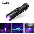 CREE Mini Aluminum Zoomable Portable UV Flashlight Violet Light LED Flashlight UV Torch Light BC383
