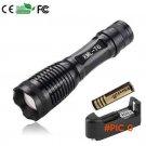 4000Xm-l T6 LED Flashlight Zoomable Led  flashlight  Camping flashlight +18650 4000MAH Bat