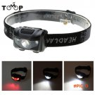 White + Red Light Color Outdoor 3W LED Light Headlights Headlamp Fishing Camping Lights Se