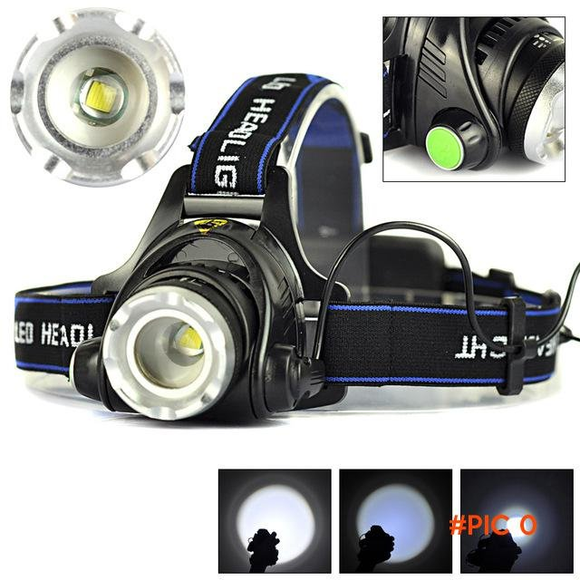 High Quality 2000LM XM-L T6 LED Zoomable Headlight 3Modes Outdoor Bike Bicycle Camping Fla
