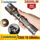 3800lm CREE XM-L T6 5modes LED Tactical Flashlight Torch Waterproof Hunting Flash Light La
