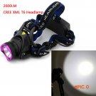 High Power 2000 Lumens CREE XM-L T6 LED Headlamp Headlight 3 Modes Outdoor Camping LED Rec