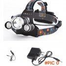 5000LM CREE XM-L T6+2 *R2 LED Tactical Headlight Hunting Head Light Torch Spotlight Lanter