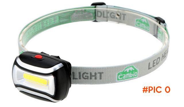 Waterproof LED Mini COB Headlight Fishing Outdoor Camping Riding Light Rotate Headlamp Lam
