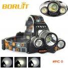 5000 Lumens Boruit Headlight XM-L T6 2R5 LED Head Light 4 Modes Headlamp Lantern Camping H