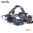 Warsun New Design 5000Lm Multifunction 4-Modes Head Lamp Bead T6+2R5 LED Headlamp Camping