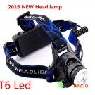 2016 New Headlamp Ultra Bright Led Headlight Cree T6 Headlamp Zoomable Lamp 2000lm Flashli