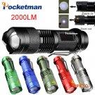 Mini FlashLight CREE Q5 Lumens 3 Modes LED Flashlight Adjustable Focus Lantern Portable Li