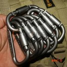 5pcs Outdoor Camping Equipment Aluminum Carabiner Hunting Equipment Survival Kit Lock Cara