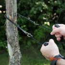 Black Camping Equipment Hiking Emergency Survival Hand Tool Gear Pocket Chain Saw ChainSaw