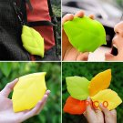 Water Bag New Portable Soft Silicone Leaf Shape Camping Hiking Home Water Drink Pocket Cup BC97