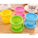 Portable Silicone Telescopic Collapsible Retractable Folding Cup Candy Outdoor Camping Tra