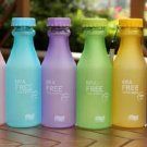 6 colors Hot Sale 550ML Candy Colord Portable Plastic My Water Bottle Tour Sport Lemon Jui