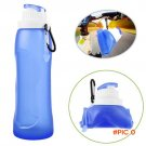 500ML Eco-Friendly Foldable Silicone Water Bottle For Travel Sport Camping Hiking Flexible