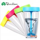 Bottle Hand Shaker 400ml Plastic Bottle Whirlwind Manual Mixing Cup Coffee Candy Color New