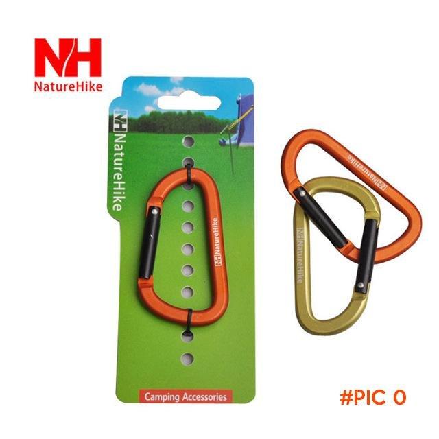 NatureHike Aluminum Alloy 8CM D Shape Buckle Climbing Carabiner Hanging Keychain Hook Moun