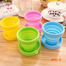Travel folding cup mini retractable silicone cup silica gel outdoor travel portable cups,o