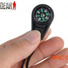 Airsoft Tactical Key Chain Mini Camping Compass Hiking Hiker Navigator For Women Men Outdo