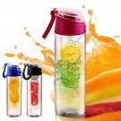 800ML Flesh Fruit infuser infusing My Better Water Bottle Sports Health Lemon Juice Make B