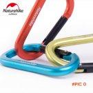 Naturehike 3 pcs D Shape 8CM  Buckle Aluminum Alloy Climbing Carabiner Hanging Keychain Ho