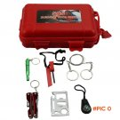 SOS Kit Car SOS Camping Hiking Sporting Outdoor Survival Tools Box Kit Survival Gear Earth