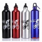 New 750ml Cycling Camping Bicycle Sports Aluminum Alloy Water Bottle with hanging ring cyc