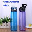 700ML TRITAN LARGE Capacity PP Water Bottle Straw Handy Space BPA Free Simple Tea Cup Port