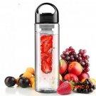 700ML Portable Fruit Infuser Plastic Water Bottle BPA Free Leakproof Sport Hiking Camping