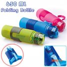 2016 Portable 650ml Silicone Folding Water Bottle Climbing Hiking Camp Sports Kettle Leak-