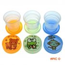 Hot Children Kids Portable Cute Lovely Animal Folding Cup Mug For Picnic Camping BC499