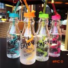 500ML My Portable Plastic Water Bottle Cycling Camping Outdoor Soda Straw Bottle Fashion C