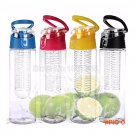 800ml Cycling Camping Cup Sport Fruit Infusing Infuser Water Lemon Cup Juice Health Eco-Fr