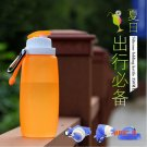 320ML Foldable Silicone Water Bottle Kettle White,Pink,Blue For Travel Outdoor Sport Campi