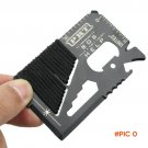 14 in 1 Multitool EDC  Survival Gear Card Tool Screwdriver Pocket Knife Wrench Camping Equ