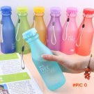 Scrubs Matte Frosted unbreakable Portable Plastic Cup Telescopic Outdoor Sports Camping tr
