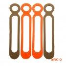 10pcs/lot EDC Gear Leggings Rope Binding Belt Food Grade Silicone High Elasticity EDC camp