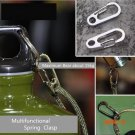 10PCS/LOT Backpack Keychain Survival Kits Climbing Carabiners Outdoor Spring Clasp EDC Bot
