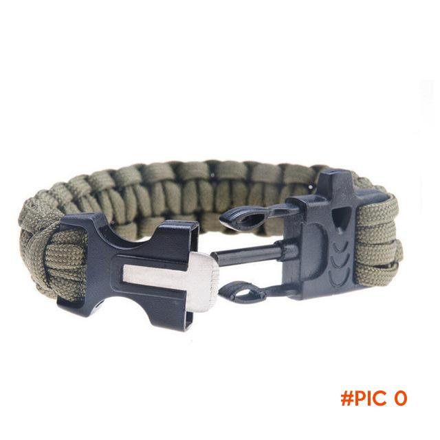 Camping Equipment Survival Kits EDC Tool 1piece/lot Outdoor Paracord Buckles / Fire Starte