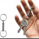 Outsp 5pcs Camping Equipment Anti-theft Survival Keychain Double-head Detachable EDC Key R