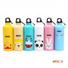 500ml Kids Water Bottle Outdoor Portable Sports Water Bottles Cycling Camping Bicycle Alum