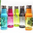 Food Grade Sport Plastic Water Bottle Leakproof Funny Lemon Juice Circle Clear Bottles Mov