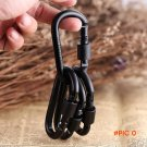 10 PCS EDC outdoor equipment safety hook buckle with lock aluminium camping gear mosqueton