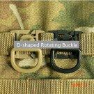 5 Pcs/lot Camping Bag Buckle Backpack Webbing Clip Outdoor Tactical SWAT Carabiner Camping