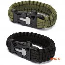 Outdoor Sports Men's Survival Paracord Bracelets Parachute Cord Wristband Emergency Ro