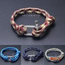New Arrival Fashion Jewelry Beach Sport Camping Parachute cord Survival  Bracelet Men with
