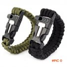 2016 Military Bracelet Flint Whistle Lanyard Outdoor Safety Supplies Multi-function Outdoo