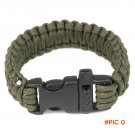 Outdoor Camping Paracord Parachute Cord Emergency Survival Bracelet Rope with Whistle Buck