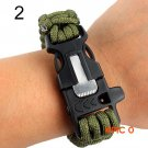 EDC Summer Survival Bracelet Outdoor Scraper Whistle Flint Fire Starter Gear Kits Men Bracelet BC57