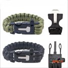 Outdoor Camping Men Bracelet Rescue Paracord Parachute Cord Wristbands Emergency Rope Surv