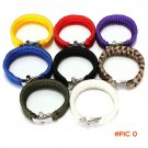 High quality 8 Colors ParaCord Outdoor Survival Bracelet Weave Handmade 7-Stand Stainless
